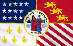 Κρατική σημαία του Ντιτρόιτ - η πόλη στο βόρειο τμήμα των ΗΠΑ, Mic ελεύθερη απεικόνιση δικαιώματος
