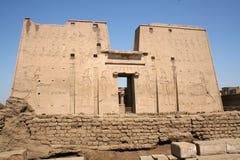 κρατικός ναός horus της Αιγύπτου edfu AF αραβικός Στοκ Εικόνες