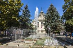 Κρατικό θέατρο στο κέντρο της πόλης Kosice, Σλοβακία στοκ εικόνα με δικαίωμα ελεύθερης χρήσης