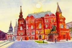 Κρατικό ιστορικό μουσείο στην κόκκινη πλατεία στη Μόσχα, Ρωσία Στοκ Φωτογραφίες