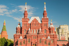 Κρατικό ιστορικό μουσείο στην κόκκινη πλατεία στη Μόσχα Στοκ φωτογραφίες με δικαίωμα ελεύθερης χρήσης