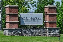 Κρατικό κοινοτικό κολέγιο της Κολούμπια στοκ εικόνα