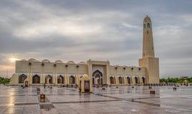Κρατικό μουσουλμανικό τέμενος του Κατάρ μουσουλμανικών τεμενών του Muhammad ibn Abd Al-Wahhab ιμαμών στοκ εικόνες με δικαίωμα ελεύθερης χρήσης