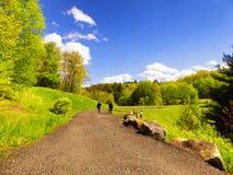Κρατικό πάρκο φραγμάτων ρυακιών λυκίσκου σε Naugatuck Στοκ Φωτογραφία