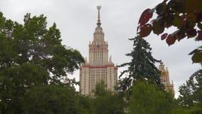 Κρατικό πανεπιστήμιο της Μόσχας που ονομάζεται μετά από M Lomonosov απόθεμα βίντεο