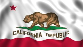Κρατικό σύμβολο Καλιφόρνιας ΗΠΑ σημαιών απεικόνιση αποθεμάτων