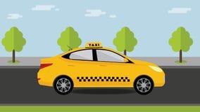 Κρατώντας ταξί Έννοια υπηρεσιών ταξί Στοκ Εικόνες