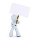 κρατώντας το σημάδι στύλων & Ελεύθερη απεικόνιση δικαιώματος