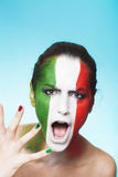 Κραυγάζοντας ιταλικός υποστηρικτής για τη FIFA 2014 Στοκ φωτογραφία με δικαίωμα ελεύθερης χρήσης