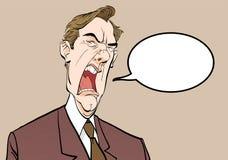 κραυγή ατόμων 0 προϊστάμενος Ενοχλημένος πολιτικός angry man Άτομο μανίας Απεικόνιση αποθεμάτων