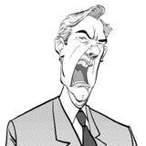 κραυγή ατόμων 0 προϊστάμενος Ενοχλημένος πολιτικός angry man Άτομο μανίας Στοκ Εικόνες