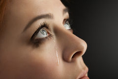 Κραυγή κοριτσιών ομορφιάς Στοκ εικόνα με δικαίωμα ελεύθερης χρήσης