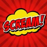 Κραυγή! Κωμική λεκτική φυσαλίδα, κινούμενα σχέδια. ελεύθερη απεικόνιση δικαιώματος