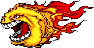 κραυγή πυρκαγιάς κομητών κινούμενων σχεδίων σφαιρών απεικόνιση αποθεμάτων