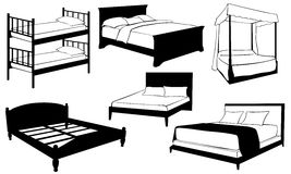 Κρεβάτια Στοκ εικόνα με δικαίωμα ελεύθερης χρήσης