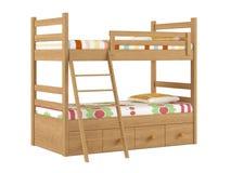 Κρεβάτι κουκετών που απομονώνεται Στοκ Φωτογραφία