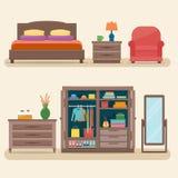 Κρεβατοκάμαρα με τα έπιπλα απεικόνιση αποθεμάτων