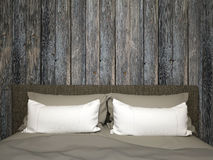 Κρεβατοκάμαρα με το παλαιό ξύλο Στοκ εικόνες με δικαίωμα ελεύθερης χρήσης