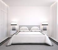 κρεβατοκάμαρα σύγχρονη Στοκ Εικόνες