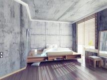 κρεβατοκάμαρα σύγχρονη Στοκ εικόνες με δικαίωμα ελεύθερης χρήσης
