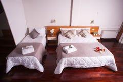 Κρεβατοκάμαρα του ξενοδοχείου Ares Στοκ Φωτογραφία