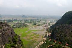 Κρεμάστε Mua την επαρχία Ninh Binh ναών, το Δεκέμβριο του 2018 εκταρίου Noi Βιετνάμ στοκ φωτογραφία