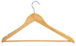 κρεμάστρα ξύλινη Στοκ φωτογραφία με δικαίωμα ελεύθερης χρήσης