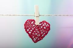 κρεμασμένη καρδιά Στοκ Εικόνες