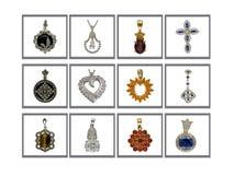 κρεμαστά κοσμήματα συλλογής Στοκ Φωτογραφίες