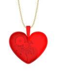 Κρεμαστό κόσμημα γυαλιού με μορφή της καρδιάς Στοκ εικόνες με δικαίωμα ελεύθερης χρήσης