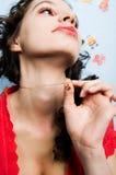 κρεμαστό κόσμημα καρδιών π&omicr Στοκ εικόνες με δικαίωμα ελεύθερης χρήσης