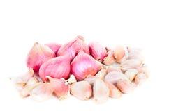 Κρεμμύδια και σκόρδο. Στοκ φωτογραφίες με δικαίωμα ελεύθερης χρήσης