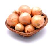 κρεμμύδια καλαθιών Στοκ φωτογραφία με δικαίωμα ελεύθερης χρήσης