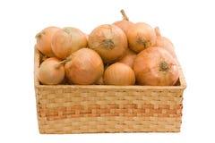 κρεμμύδια καλαθιών Στοκ Εικόνα