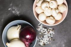 κρεμμύδια μανιταριών στοκ φωτογραφίες με δικαίωμα ελεύθερης χρήσης