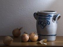 κρεμμύδι βάζων Στοκ εικόνες με δικαίωμα ελεύθερης χρήσης