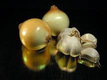 κρεμμύδι σκόρδου στοκ φωτογραφία