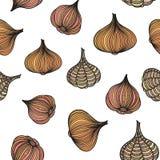 Κρεμμύδια και σκόρδο Στοκ Εικόνες
