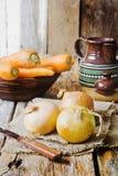 Κρεμμύδι και καρότα Στοκ Εικόνα