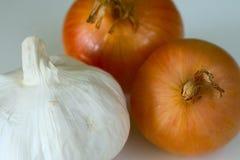 Κρεμμύδι και σκόρδο Στοκ εικόνες με δικαίωμα ελεύθερης χρήσης