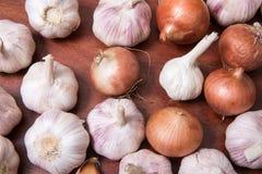 Κρεμμύδι και σκόρδο Στοκ Εικόνα