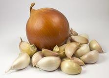 Κρεμμύδι και σκόρδο Στοκ φωτογραφία με δικαίωμα ελεύθερης χρήσης