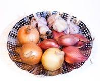 Κρεμμύδι, κρεμμύδι, σκόρδο Στοκ Εικόνες