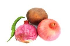 Κρεμμύδι, πατάτα & πιπέρι Στοκ Φωτογραφίες