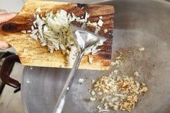 Κρεμμύδι τηγανητών Στοκ Εικόνες