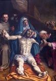 ΚΡΕΜΟΝΑ, ΙΤΑΛΙΑ, 2016: Η απόθεση της διαγώνιας ζωγραφικής στον καθεδρικό ναό της υπόθεσης της ευλογημένης Virgin Mary Στοκ Εικόνα