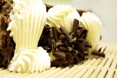 κρεμώδες γλυκό σοκολάτας κέικ Στοκ φωτογραφία με δικαίωμα ελεύθερης χρήσης
