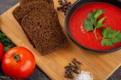 κρεμώδης ντομάτα σούπας στοκ φωτογραφία με δικαίωμα ελεύθερης χρήσης