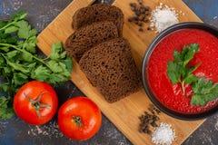 κρεμώδης ντομάτα σούπας στοκ εικόνα με δικαίωμα ελεύθερης χρήσης