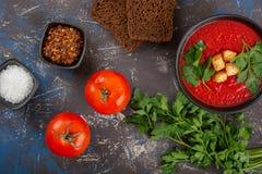 κρεμώδης ντομάτα σούπας στοκ εικόνες με δικαίωμα ελεύθερης χρήσης